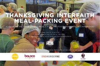 Thanksgiving Meal Packing with Harvard's The Humanist Hub 2015