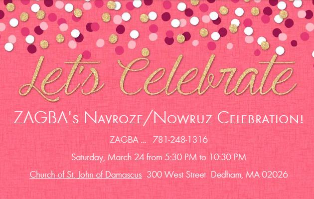 ZAGBA's Navroze/Nowruz Celebration
