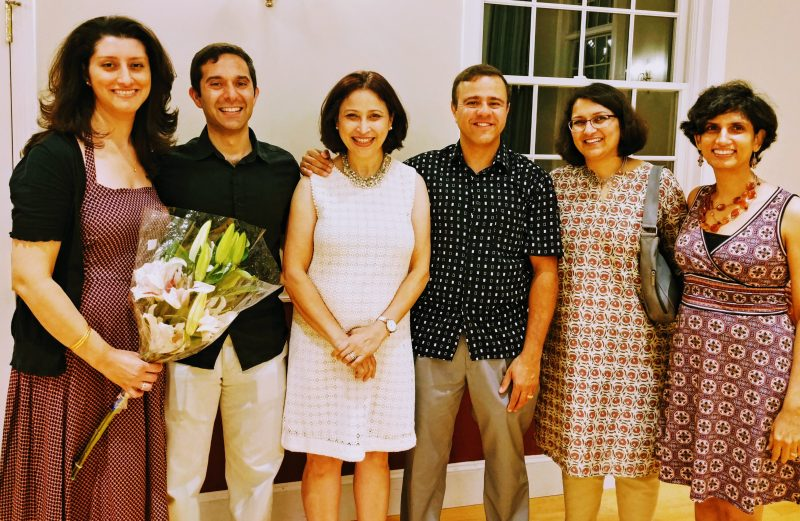 L to R: Roshni Kapadia Hirjibehedin, Cyrus Hirjibehedin, Nazneen Vimadalal, Zubin Talavia, Pria Antia and Anahita Dastur