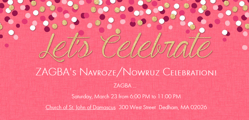 Navroze/Nowruz function on  Saturday March 23, 2019